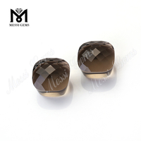 smokey quartz mushroom shape glass stone