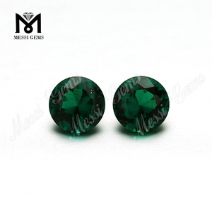 Round 6.0mm hydrothermal zambia emerald 4ct carat gems