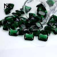 loose green color lab created glass gem stone gemstone