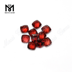 cushion cut natural gemstones red garnet stones price per carat
