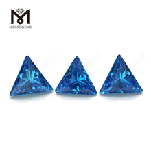 triangle cut synthetic aquamarine cubic zirconia stone cz