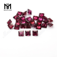 4x4mm square natural purple garnet gemstone loose price