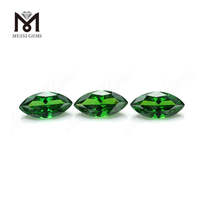Synthetic green cz stone marquise shape 7x14mm loose cubic zirconia