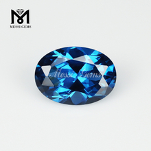 Oval 10 x 14mm 120# Blue Synthetic Spinel Stones