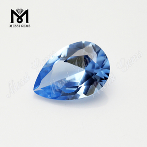 Wholesale 106# blue spinel stone pear cut synthetic spinel gemstone