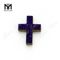 high quality amethyst agate druzy cross in wholesale price
