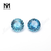 Round 6MM Blue Natural Topaz Gemstone from Messi Gems
