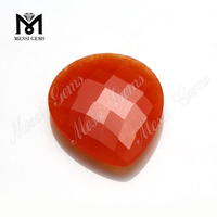 double checker cut gems natural blood jade stones for necklace