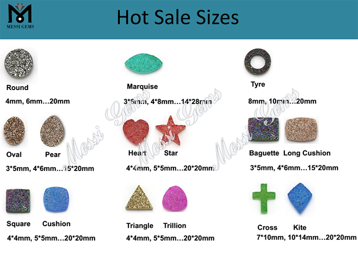 factory sale natural agate druzy stones for jewelry making