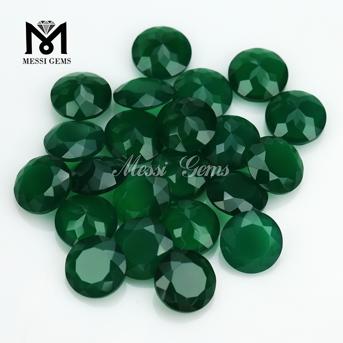loose natural gemstones green onyx stones in 4mm round cut