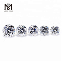 Synthetic Def White Round moissanite diamond Price Wuzhou Factory Messigems
