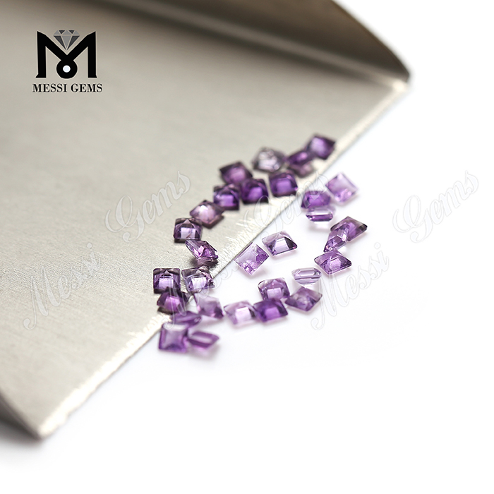 Natural Gemstone 2.5mm Square Shape Amethyst Stone Prices Loose