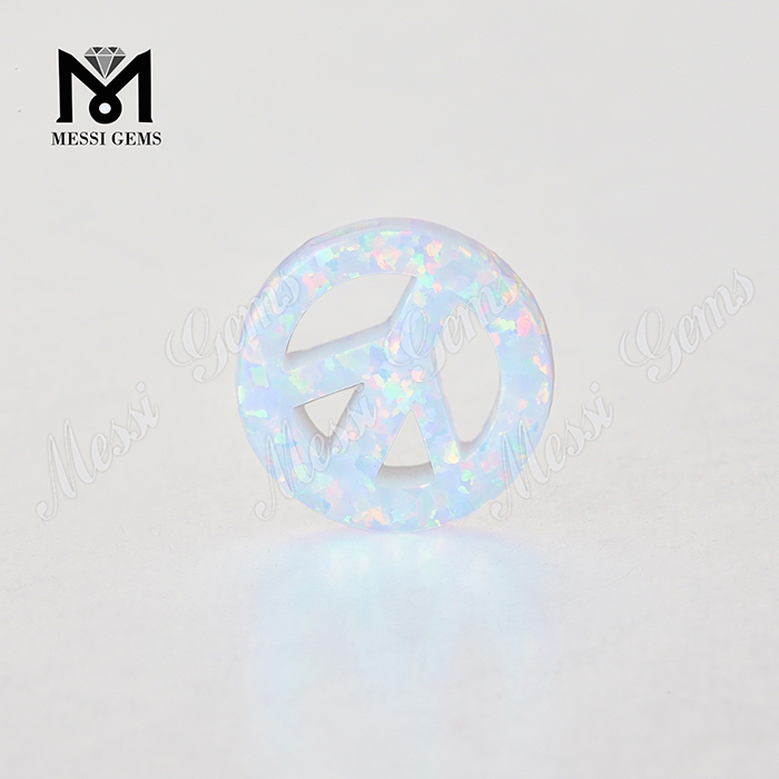 peace shape loose shape opal stones, synthetic opal cabochon
