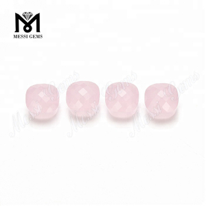 Synthetic pink glass stone mushroom shape glass gemstone