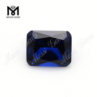 loose machine cut octagon 113# blue synthetic spinel gemstone