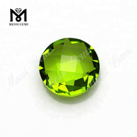 synthetic gems round faceted glass gemstone