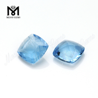 8*8 cushion shape machine cut loose stone glass gems