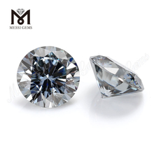 wholesale stock price 8mm 2 carats loose grey moissanite diamond