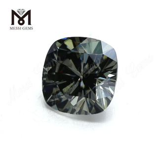 DEF Wholesale grey Cushion Cut Moissanite Stone