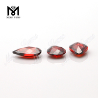 Wholesale high quality loose pear garnet cubic zirconia stone price