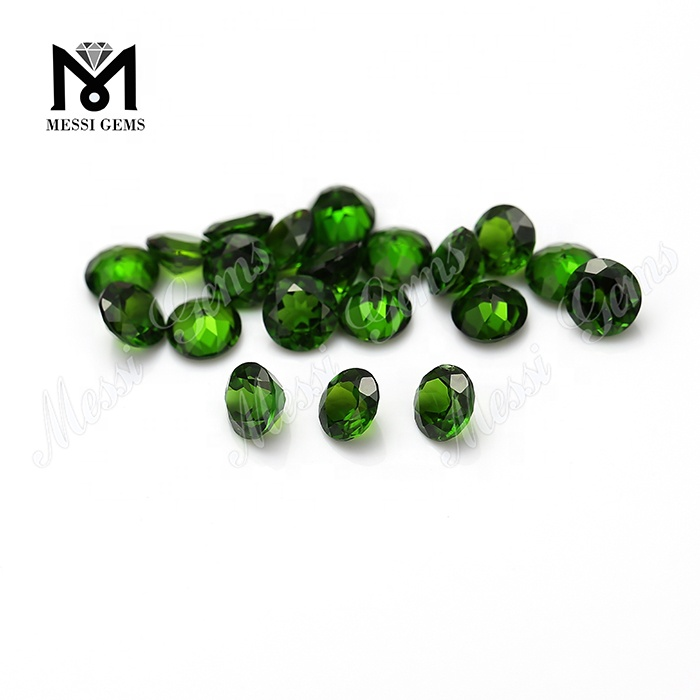 Cheap China 4.0mm diamond cut natural chrome diopside loose gemstones