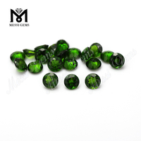 Factory high quality 4.0mm round loose gemstone natural chrome diopside price