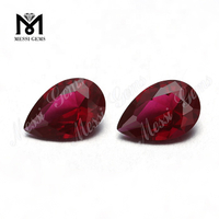 Loose 8*12mm Pear Cut Red Ruby Color Loose Nano Stones