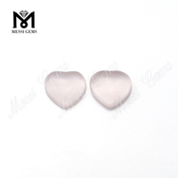Heart Cabochon Gemstones Natural Loose Rose Quartz Stones