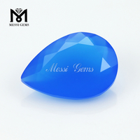 New Arrival Faceted Pear Cut 10 x 14 Loose Gems Blue Agate Stone