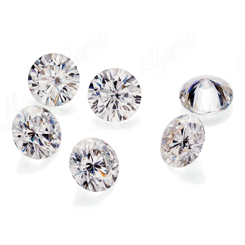 Round Brilliant Cut Cheap Moissanite Loose Stone GH 4.5mm Man made Diamond