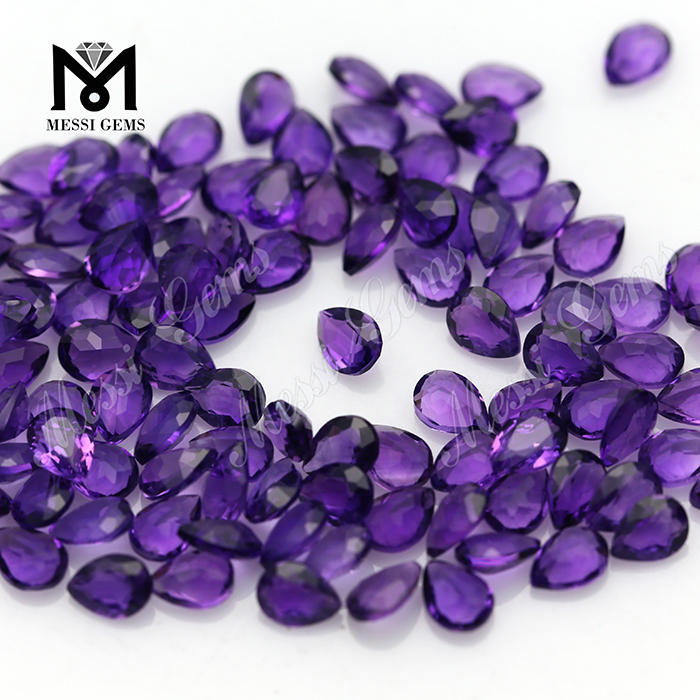 Top machine cut pear shape natural loose amethyst stone price