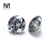 Grey Round Brilliant Cut Synthetic 6.5mm Grey moissanite diamond Stone For Ring