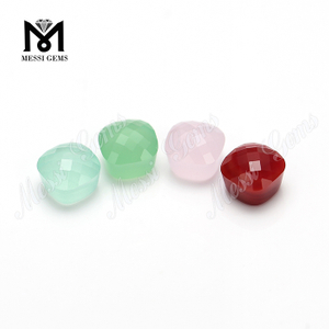 wuzhou cushion mushroom cut glass gems stone