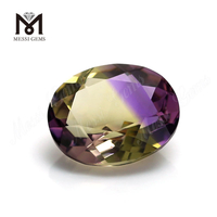 Chinese 8x10mm oval cut Lab Made Synthetic Ametrine Quartz Gemstones