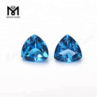 Factory price blue crystal top quality trillion shape natural blue topaz gemstone