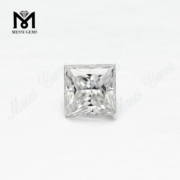 White Color Square moissanite diamond Shape VVS Moissanite Princess 1ct Manufacturer