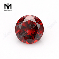 Wholesale price round cubic zirconia gems garnet synthetic cz