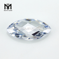White CZ Marquise 2.5x5mm Synthetic Cubic Zirconia Gemstones