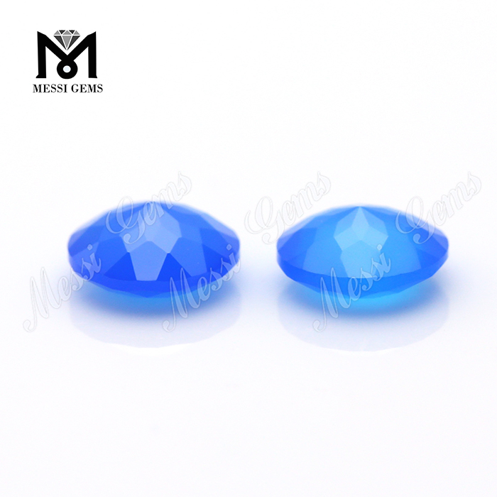wholesale price blue natural agate gemstone