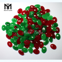 wholesale oval green red jade stone