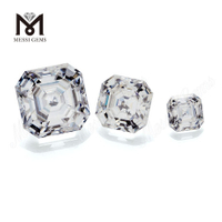Color play or fire Loose gemstone DEFWhite Asscher cut moissanite diamond Heat
