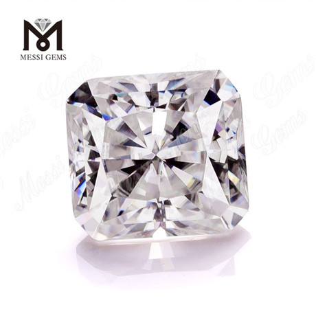 Synthetic D color radiant cut 10x10mm white vvs moissanite stones loose