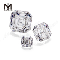 Asscher cut moissanite diamond for Jewelry making price per carat Loose gemstone