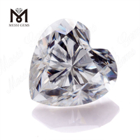 Heart DEF VVS moissanite diamond price per carat