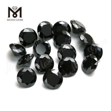 Loose small size 1-3mm round brilliant cut black diamond moissanite price