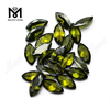 Loose Gemstone Marquise cut Color play or fire Olive cubic zirconia