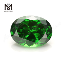 13x18mm Wholesale oval shape emerald green cz cubic zirconia stones