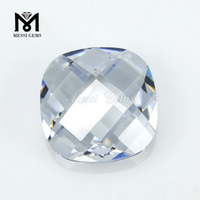 Square princess cut white color synthetic cubic zirconia stone