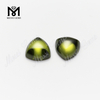trill cut 10x10mm Top quality Olive cubic zirconia in loose gemstones
