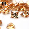 Champagne cubic zirconia square briolett cut CZ stones for making jewelry